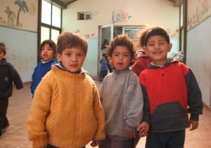 Bambini di una scuola a La Plata